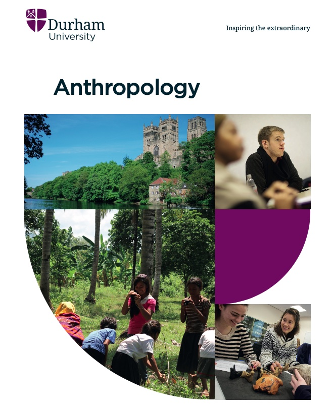 Logo from Durham Anthropology showing students and the campus